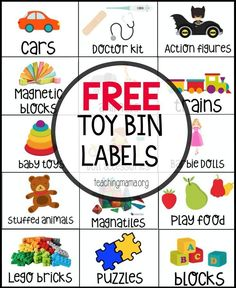 Free Toy Bin Labels Teaching Mama's Posts Playroom Organization Throughout Bin L… Free Toy Bin Labels Teaching Mama's Posts Playroom Organization Throughout Bin Labels Template – Professional Templates Ideas Toy Bin Labels, Cubby Labels, Toy Room Organization, School Organization, Organizing Labels, Organizing Toys, Organizing Ideas, Printable Organization, Organizing Toddler Rooms