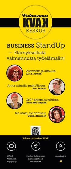 Valmennuskeskus KVAK -rollup, TyHy-tytsyt. Visuaalinen toteutus vapaaehtoistyönä ammattitaidon ylläpitämiseksi. Natasha Varis, 2015.