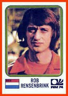 Rob Rensenbrink of Holland. 1974 World Cup Finals card.
