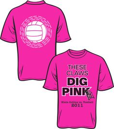 Volleyball Dig Pink - Design 2 | T Shirt Design Ideas | Pinterest ...
