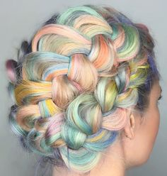 Unicorn Rainbow Braids: The Prettiest Hair In All The Land