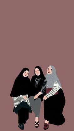 Ideas Wall Paper Cartoon Couple Illustrations For 2020 Couple Cartoon, Girl Cartoon, Cartoon Art, Tmblr Girl, Cover Wattpad, Hijab Drawing, Islamic Cartoon, Hijab Cartoon, Islamic Girl