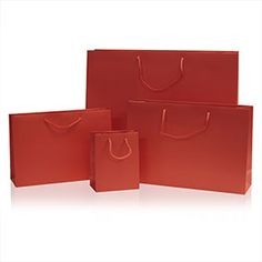 Red Matt Boutique Bags - From 26p per bag