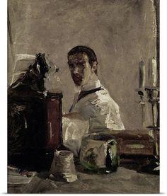 Self Portrait, 1880 by Henri de Toulouse-Lautrec//
