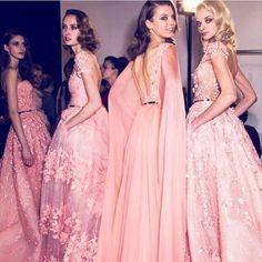 Elie Saab couture backstage!