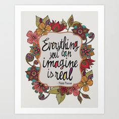 Everything you can imagine is real. by Valentina Harper motivational poster word art print black white inspirational quote motivationmonday quote of the day motivated type swiss wisdom happy fitspo inspirational quote Typography Quotes, Typography Prints, Typography Poster, Art Quotes, Inspirational Posters, Motivational Posters, Word Art, Printable Art, Printables