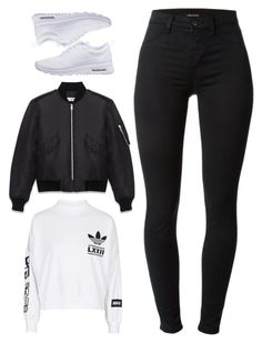 """Untitled #1306"" by i-am-leia ❤ liked on Polyvore featuring moda, adidas, Yves Saint Laurent, NIKE e J Brand"