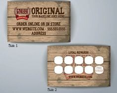 1000 images about vip loyalty card on pinterest loyalty for Frequent diner card template