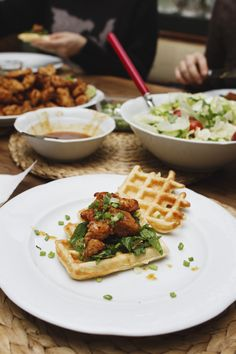 asian-style chicken and waffles