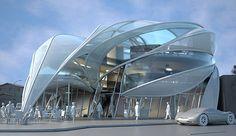 Futuristic Architecture Concept: Futuristic Sci-Fi Building in L.A.
