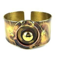 Circle Within Brass Cuff - Brass Images (C) - Zimbabwe