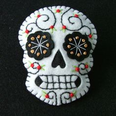 Day of the Dead embroidery idea