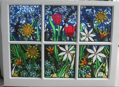 glass mosaic projects | Garden Mosaic Window two by ~reflectionsshattered on deviantART