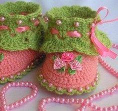 Patucos ~ Escarpines muy elegantes para tejer al crochet / Paso a paso | Todo crochet