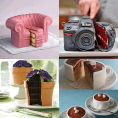 Never Judge a Cake by its Cover.Amazing cakes, works of art! Crazy Cakes, Fancy Cakes, Cute Cakes, Yummy Cakes, Pretty Cakes, Unique Cakes, Creative Cakes, Creative Ideas, Creative Food