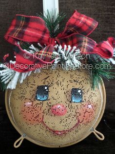 Hanging Around for the Holidays Gingerbread Strainer Pattern - Kathleen Whiton - PDF DOWNLOAD