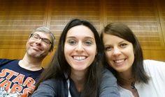 Alex, Marina und Lisa beim #cosca15 ContentCamp in Dieburg
