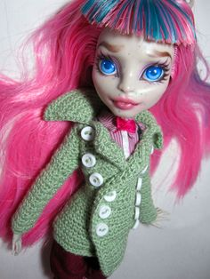 Crochet Monster High Pea Coat by periwinkleimp.deviantart.com on @deviantART