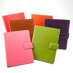 Colorful leather Portfolios! Make work stylish with these Portfolios from See Jane Work!  www.seejanework.com
