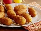 Food Network - Paula Deen Homemade Mini Corn Dogs Recipe Recommended by Eat ♥ Sleep ♥ Pin ♥ group member Patti