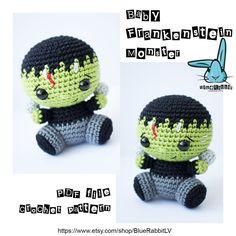 Baby Frankenstein Monster - amigurumi crochet pattern. Language - English by BlueRabbitLV on Etsy https://www.etsy.com/listing/518076353/baby-frankenstein-monster-amigurumi