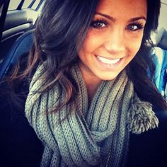 hair. makeup. face. scarf. perfection.