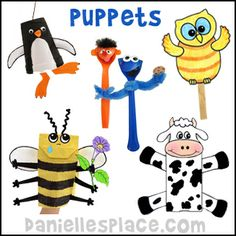 Puppet Craft for all Occasions - Paper Bag Puppets, Sock Puppets, Marionette Puppets, Cup Puppets, and Stick Puppets, and Spoon Puppets from...