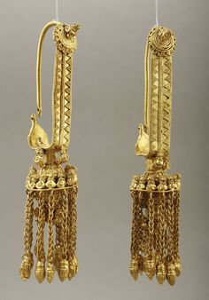 Earrings, from the tombs of ancient Georgia,ca. 400-350 B.C.