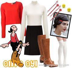 Olive Oyl Halloween Costume Idea