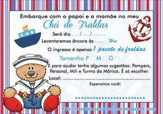 Montando Surpresas: Convite ursinho marinheiro gratuito - Para Chá de fraldas - Gratuito para baixar