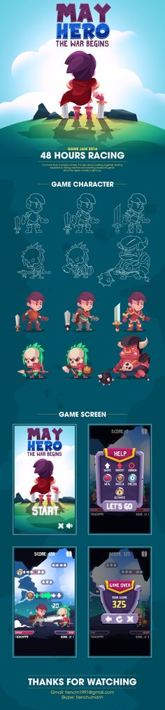 Ознакомьтесь с этим проектом @Behance: «May Hero - Game Art» https://www.behance.net/gallery/55110241/May-Hero-Game-Art