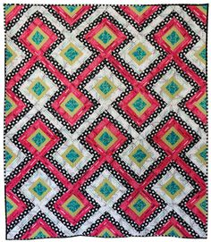 Freshly Pieced Modern Quilts: Gridlock Pattern Now Available and On Sale! Geometric Quilt, Charm Quilt, Quilting Board, Quilt Modernen, String Quilts, Quilt Sizes, Barn Quilts, Quilting Projects, Quilting Ideas
