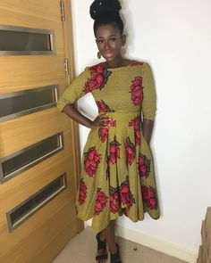 When picking out Sunday church clothing the first important thing to consider is.... Ankara Short Gown Styles, Trendy Ankara Styles, Kente Styles, African Print Dresses, African Dresses For Women, African Attire, African Prints, African Women, African Wear