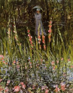The Promenade, Woman with a Parasol - Claude Monet - WikiArt.org