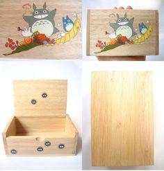My Neighbor Totoro Hand Paint wood Box Studio Ghibli. WANT