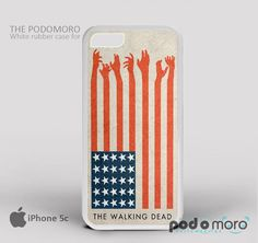 The Walking Dead American Flag for iPhone 4/4S, iPhone 5/5S, iPhone 5c, iPhone 6, iPhone 6 Plus, iPod 4, iPod 5, Samsung Galaxy S3, Galaxy S4, Galaxy S5, Galaxy S6, Samsung Galaxy Note 3, Galaxy Note 4, Phone Case
