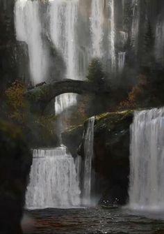 Dark Fantasy, Fantasy Forest, Dark Forest, Fantasy World, Fantasy Art Landscapes, Fantasy Landscape, Landscape Art, Landscape Paintings, Art Paintings