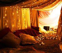 Weihnachtsbeleuchtung im Schlafzimmer gardinen romantisch ...