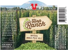 Victory Brewing Hop Ranch #IPA is back for another seasonal run