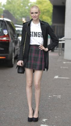 Karen Gillan shaved head. Looks so cool all the time! She makes me want to shave my head.
