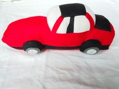 Brayden's car soft toy - side