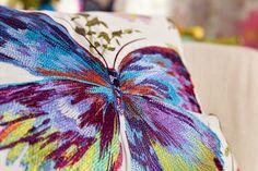 PARADISE GARDEN de Rasch Textil. | Papallones per uns coixins sorprenents! Mariposas para unos cojines sorprendentes!