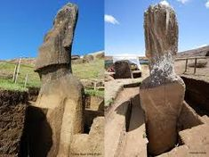 THE giant stone statues scattered around remote Easter Island are even more impressive than they first appear. Hidden from view, the heads are attached to bodies that extend metres underground. Archaeological Discoveries, Archaeological Finds, Easter Island Statues, Head Statue, Stone Statues, The More You Know, Ancient Aliens, Jena, Travel Pictures