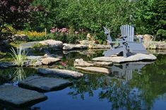 Man-made Natural Pond: Beautiful Waterfalls, Beautiful Landscapes, Paving Stone Patio, Natural Pond, Natural Stones, Pond Cleaning, Pond Maintenance, Pond Water Features, Pond Design