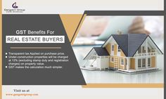 #GST impact on #realestate Sector, #Benefits for real estate #buyers. #property #propertyrights #GSTeffect.