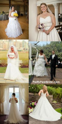 {Fashion Friday} Discounted Designer Plus Size Wedding Dresses courtesy of Preownedweddingdresses.com | The Pretty Pear Bride http://prettypearbride.com/fashion-friday-discounted-designer-plus-size-wedding-dresses/