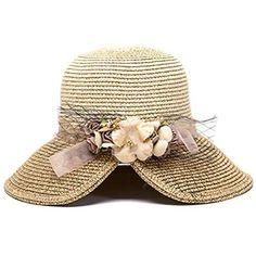 Sombreros · Leisial Sombrero de Paja Ala Ancha Gorro de Visera Sombrero de Verano  Playa Vacaciones Viajes para 2815c8f4117