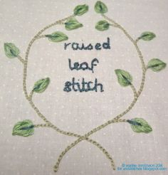Tutorial- Raised leaf stitch