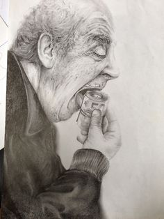 Hunger. Illustration. Pencil