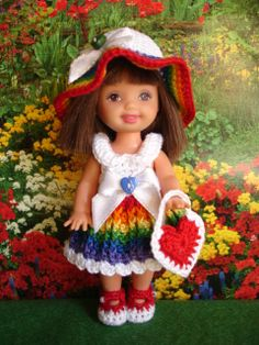 NO PATTERN: Handmade Crochet Kelly Doll Clothes by sweet-lil-things on eBay